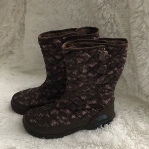 North Face Thermoball Button-Up winter boots